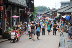 Chinese luodai old  town Stock Image