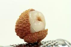 Chinese lychee on white Stock Photo