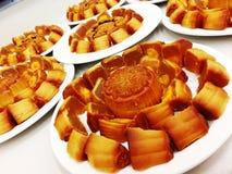 Chinese maancake stock foto's