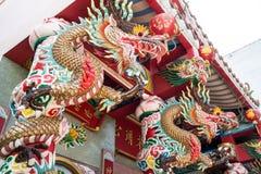 Chinese maatregel en Draak Royalty-vrije Stock Afbeelding