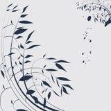 Chinese magische bloemachtergrond Stock Afbeeldingen