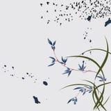 Chinese magische bloemachtergrond Stock Foto