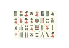 Chinese mah-jong. Domino on the whte background Royalty Free Stock Image