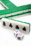 Chinese Mah-Jong. Here is a set of mahjong tiles Royalty Free Stock Photo