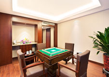 Chinese Mah-jong room Stock Image