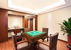 Chinese Mah-jong room stock image