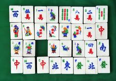 Chinese Mahjong tiles Stock Images