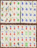 Chinese Mahjong tiles Stock Photography