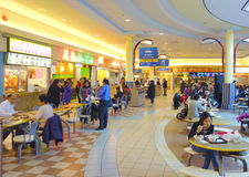 Chinese Mall Food Court Stock Photo