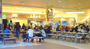 Chinese Mall Food Court Royalty Free Stock Photography