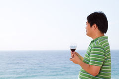 Chinese man drinking Stock Photos