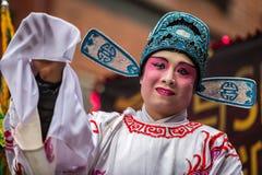 Chinese man wearing makeup Royalty Free Stock Photos