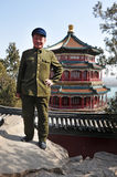 Chinese man wearing Mao Tzetung suite and hat in Beijing China Stock Photos