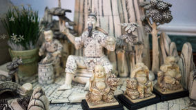 Chinese Marble Figurines Royalty Free Stock Photography