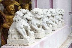 Chinese marble stone lion royalty free stock image