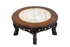 Chinese marmeren hoogste en 5 benen Ha van de stijl korte antieke rondetafel stock foto