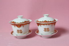 Chinese marriage cups Royalty Free Stock Images