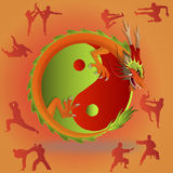 Chinese martial arts and tai chi Stock Images