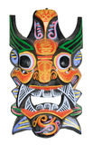 Chinese mask. Chinese wall mask isolated on white background Stock Image