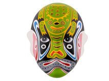 Chinese mask. A chinese mask on a white background Royalty Free Stock Photos