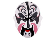 Chinese mask. A chinese war mask on a white background Royalty Free Stock Photography