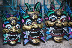 Chinese masks  Royalty Free Stock Photos