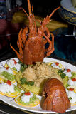 Chinese meal-lobster Royalty Free Stock Photos