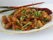 Chinese meal. Spicy Chinese chicken with potatoes Stock Images