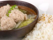 Chinese Meat Ball Soup With Rice