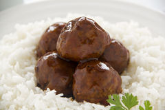Meat Balls In Hoisin Sauce Stock Photography