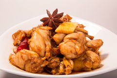 Chinese meat -Brine bullfrog. China traditional dishes -Brine bullfrog Stock Image