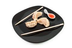 Chinese meat dumplings Stock Photos