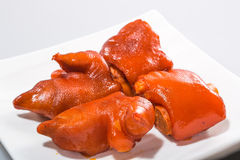 Chinese meat - lucky Braised Pig Feet in Brown Sauce-2. Chinese traditional Lucai - lucky Braised Pig Feet in Brown Sauce Royalty Free Stock Photos