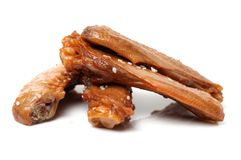 Chinese meat -Spiced duck wings. On White Background Royalty Free Stock Photos