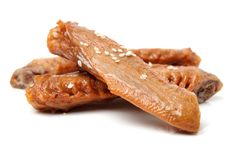Chinese meat -Spiced duck wings. On White Background Royalty Free Stock Image