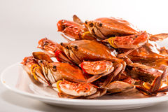 Chinese meat -Steamed crab. China traditional dishes -Steamed crab Stock Photography