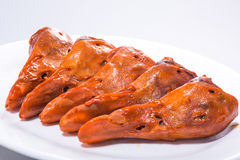 Chinese meat -Stewed duck head. China traditional dishes - Stewed duck head Royalty Free Stock Image