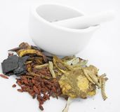 Chinese Medicine. Ingredient used in Traditional Chinese Medicine Stock Photography