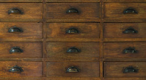 Chinese medicine cabinet. Close up of chinese medicine cabinet stock photo