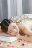 A Chinese medicine cupping of the young lady Stock Photo