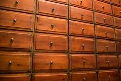 Chinese medicine drawer Stock Photo
