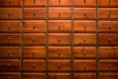 Chinese medicine drawer Royalty Free Stock Photo