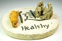 Chinese medicine ginseng root Stock Image
