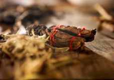 Chinese medicine herb. With mood lighting Stock Photo