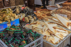 Dried shark fin at a Chinese market Stock Photography