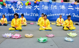 Chinese Meditation event Royalty Free Stock Image