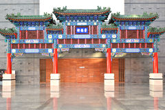 Chinese Memorial arch building. Memorial arch building architecture, china artwork Royalty Free Stock Photography