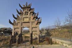 Chinese Memorial Gateway Stock Image
