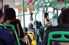 Chinese mensen op bus Stock Fotografie