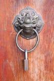 Chinese metal door knob. Ancient Chinese metal door knob Stock Images
